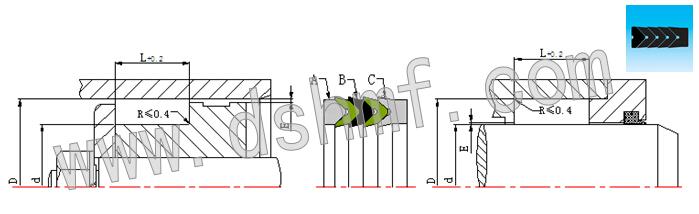 孔轴两用v型组合dvr切面平面结构圈
