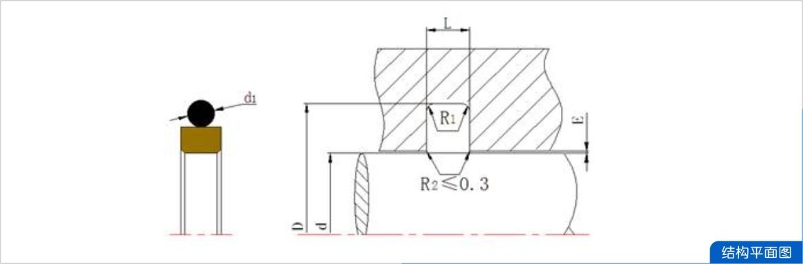 密封圈,方形组合密封圈截面结构图